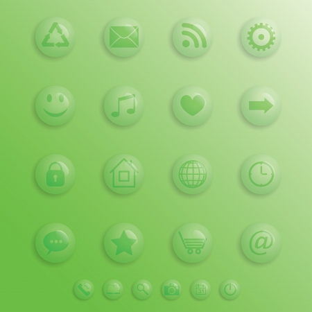 transparent drop-buttons for applications. eps10 Vector