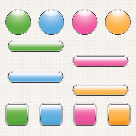 blank button template for app or web. eps10 Vector