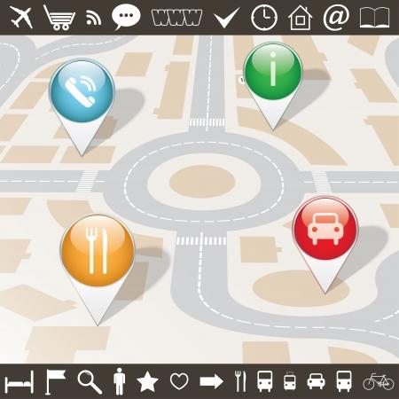 tekens, symbolen, aanwijzingen voor map.vector set eps10 Stock Illustratie