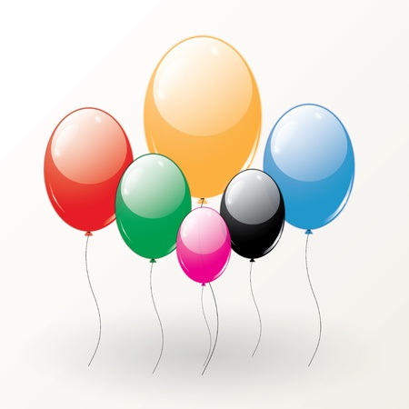 set of colored balloons for design. vector eps10 Stock Vector - 18593855