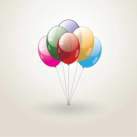 flying colored balloons Stock Vector - 18820001