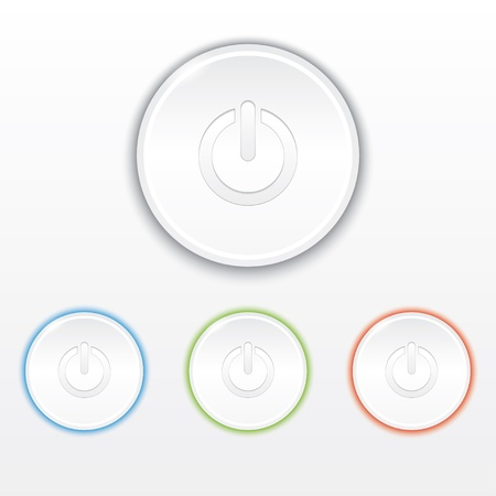 set of power buttons with backlight Vector