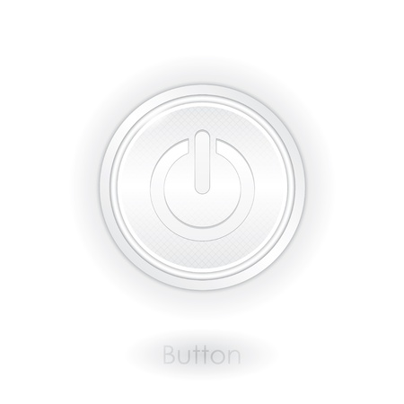 Detailed power button for web and app Vector