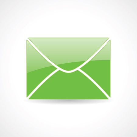 chatbox: icon of the envelope Illustration