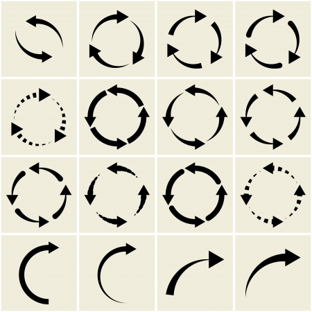 arrows. signs of recycling Stock Vector - 18819913