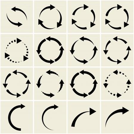 arrows. signs of recycling Иллюстрация