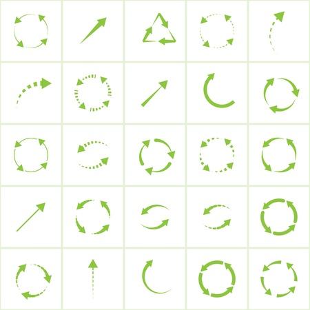 eco green arrows Stock Vector - 18819916
