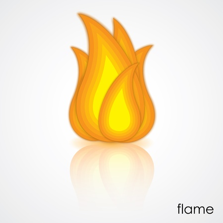 icon of flame Stock Vector - 18819967