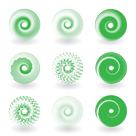set of round abstract icons Vector