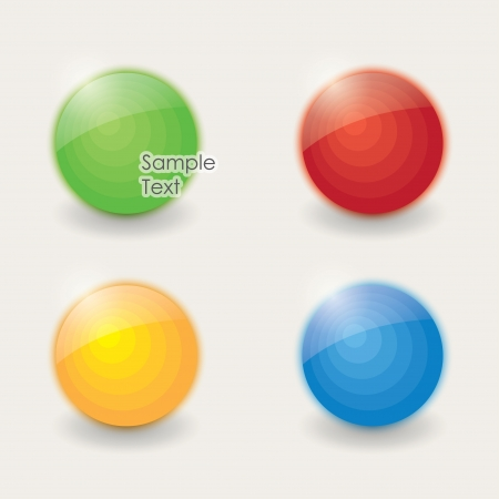 design elements. colored sphere Stock Vector - 18820013
