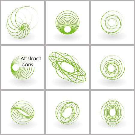 dna spiral: set of abstract icons