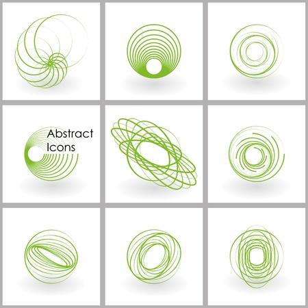 spirale: Set von abstrakten Ikonen