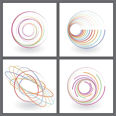 set of abstract colored icons.  Vector