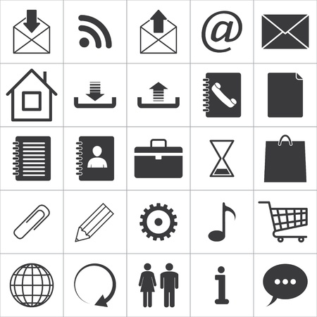 set of 25 media icons. Stock Vector - 19369443