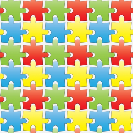 wall decor: colorful puzzles. seamless background.