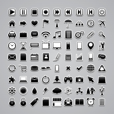 icons-stickers.  Vector