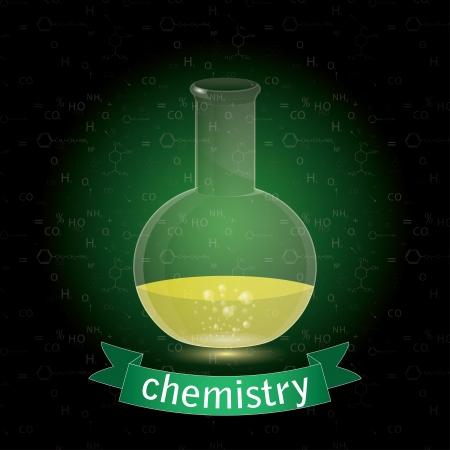 sujeto: objeto de la qu�mica. Frasco del producto qu�mico.