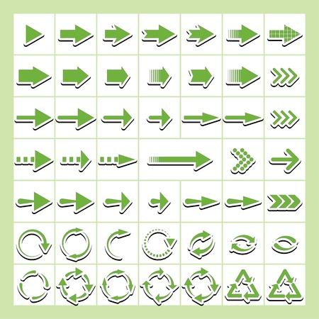flecha derecha: Flechas verdes: stickers.