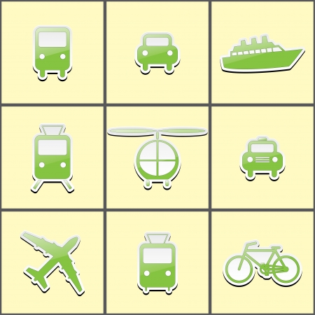 icons-stickers public transport.  Vector