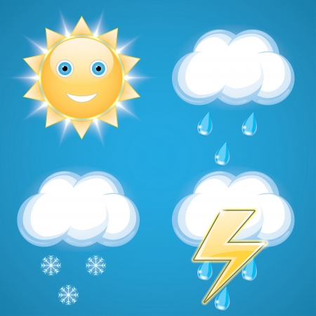 weather icons. vector set.   Vector