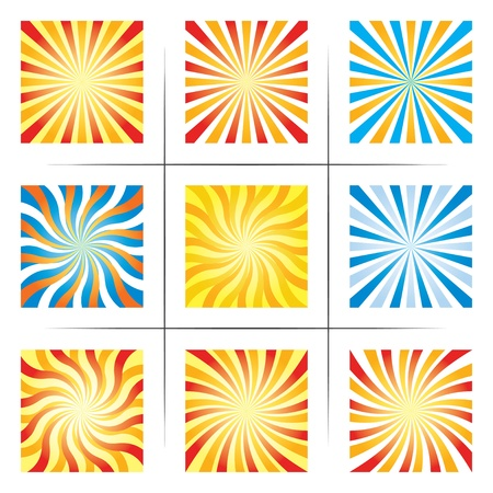 rays light: set of abstract backgrounds. Illustration