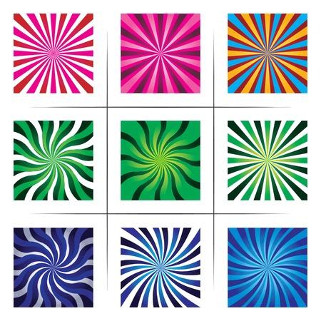 arte optico: colección de fondos abstractos multicolores.