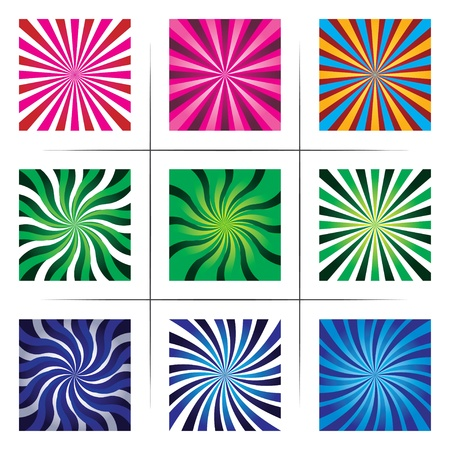 collection of abstract multicolor backgrounds.  Vector