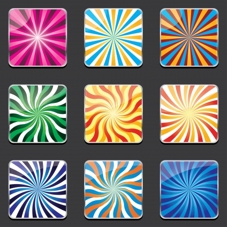 abstract backgrounds for apps.   Vector