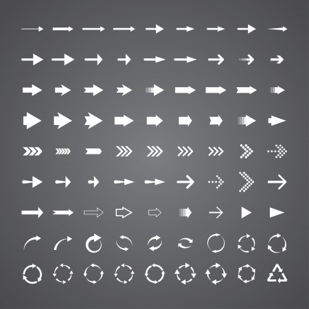 set of 81 universal arrows. eps8 Stock Vector - 19914749