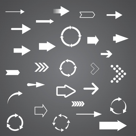 vector arrows. set of 28 pieces. eps8 Stock Vector - 19914739