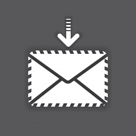 white icon of the envelope. vector eps10