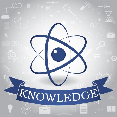 knowledge concept: knowledge. concept background. vector eps10