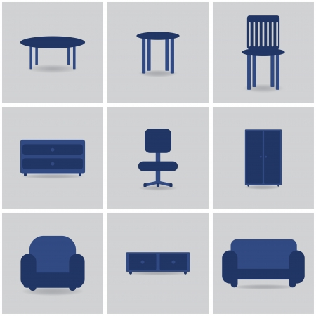 icons furnniture. vector set1. eps10 Vector
