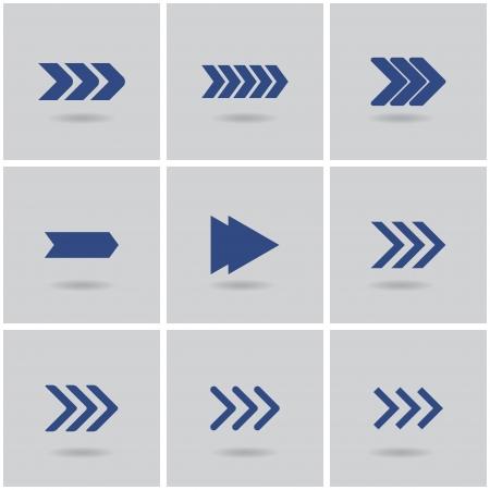 9 arrows. vector. set 1. eps10