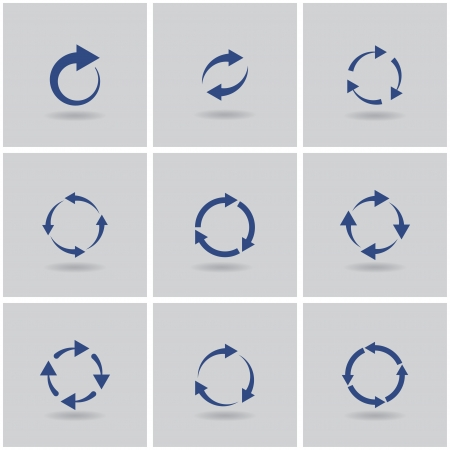 abstract recycle arrows: circles signs of recycling. vector set. eps10