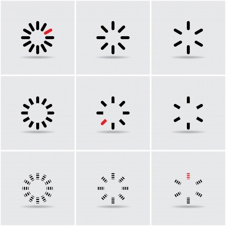set of progress indicators. vector eps10 Vector