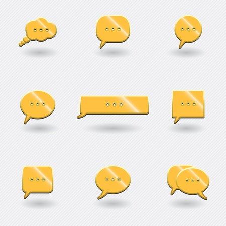 golden icons of chat. Vector
