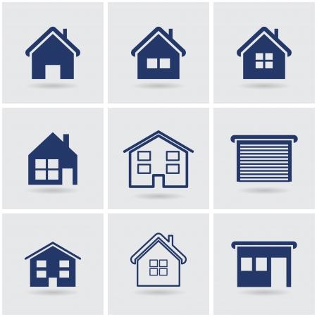 icônes maisons.