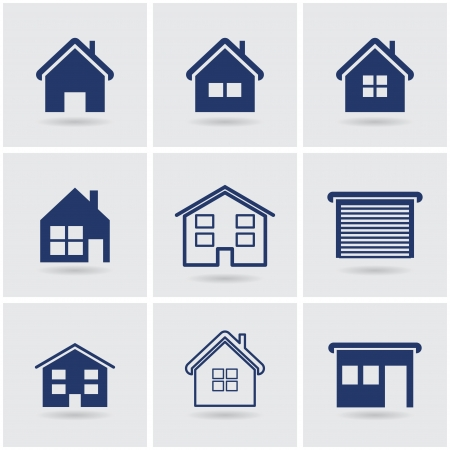 icons houses.