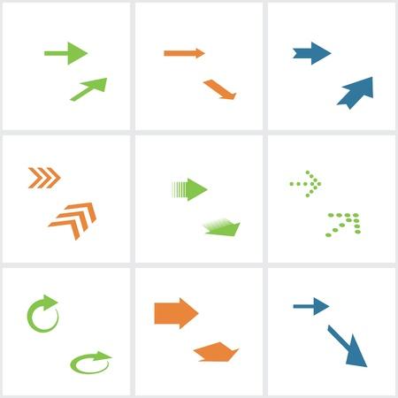 designator: set of colored arrows. Illustration
