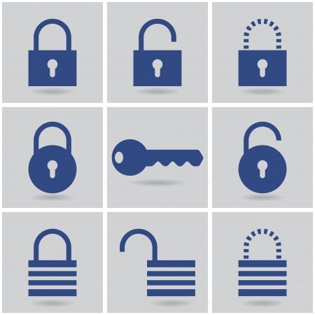 Iconos candados. Foto de archivo - 20681816