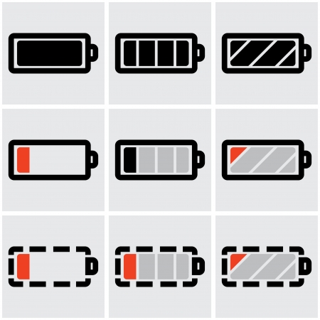 indicators of battery charge.  Vector