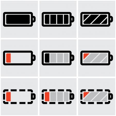 cadmium: indicators of battery charge.