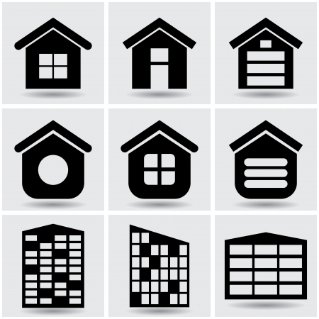 icons houses.  Vector
