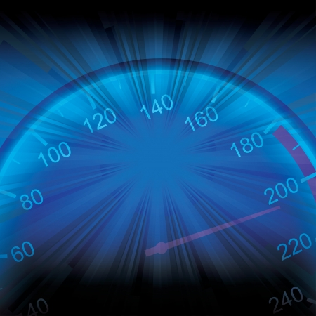 car dashboard: speed concept illustration Illustration