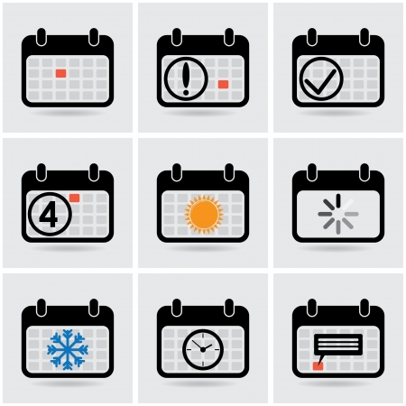 icons of calendar. Vector
