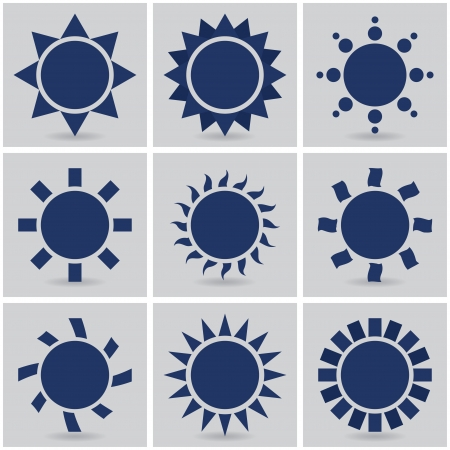 icons suns.  Vector