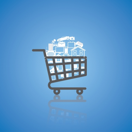 cart icon: full shopping cart.