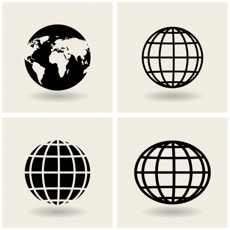 earth globe: icons globes.  Illustration