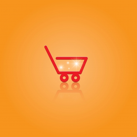 shopping cart.  Vector